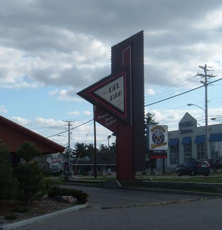 Del-Bar sign