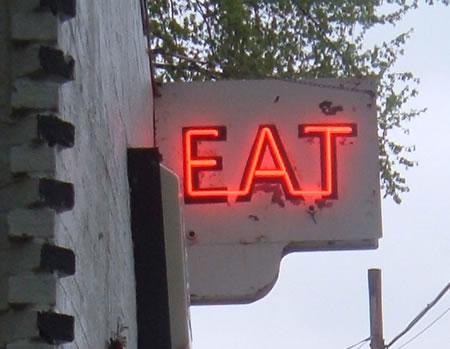 Fair Oaks Eat sign
