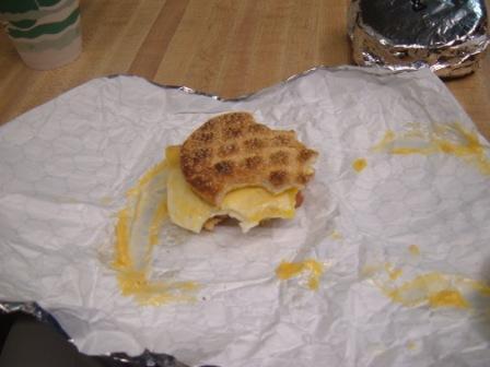 Good Day Coffee Shop breakfast sandwich