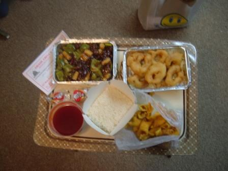 Grand China food on TV tray