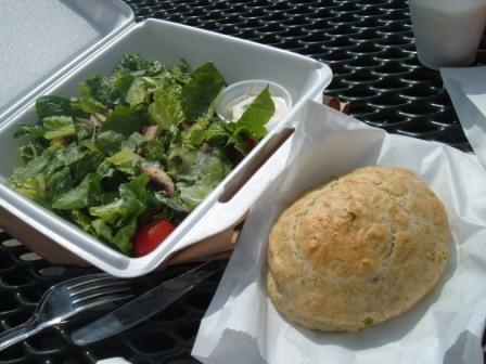 Grape and Company broccoli and romaine salad