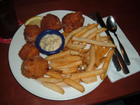 Great Dane fish and chips