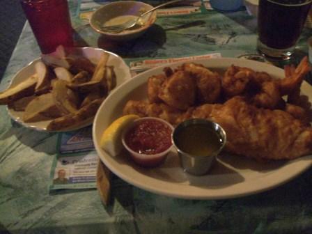 Green Lantern seafood platter